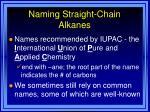 naming straight chain alkanes