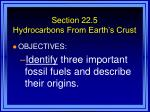 section 22 5 hydrocarbons from earth s crust
