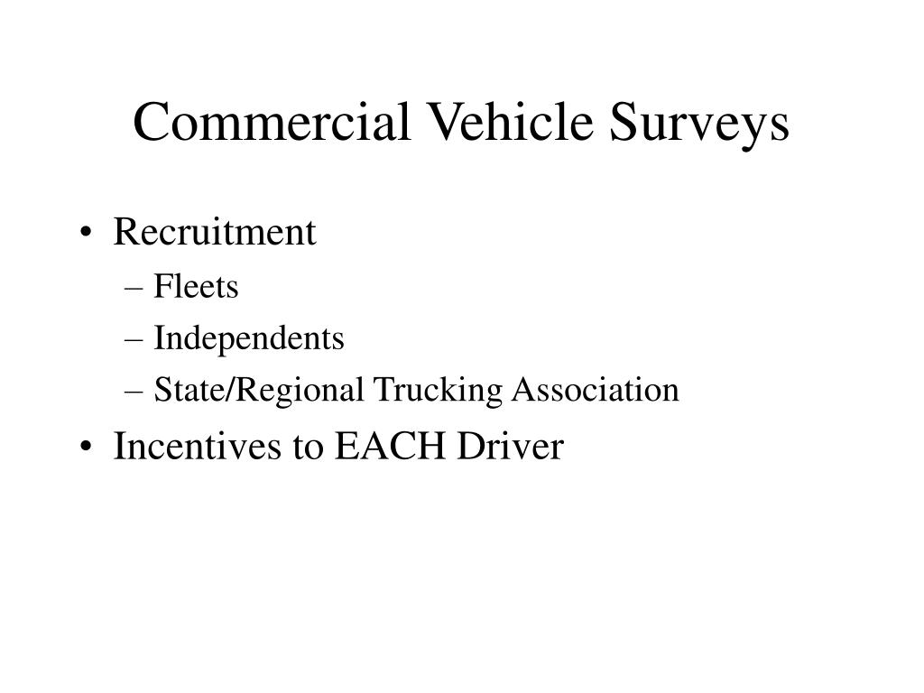 Commercial Vehicle Surveys