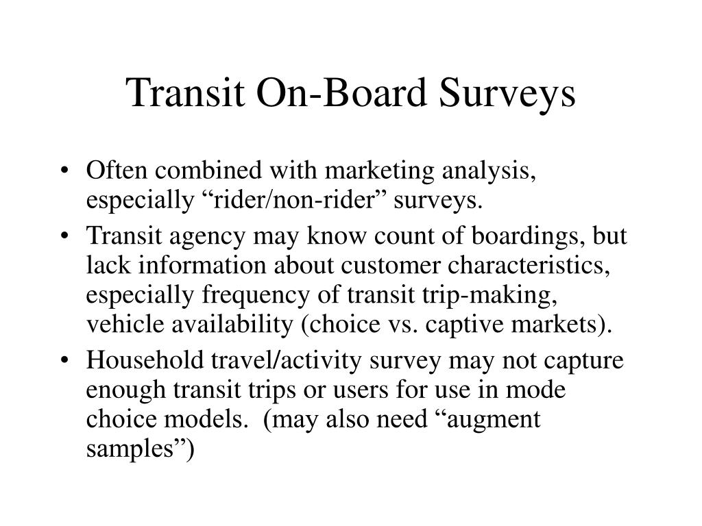 Transit On-Board Surveys