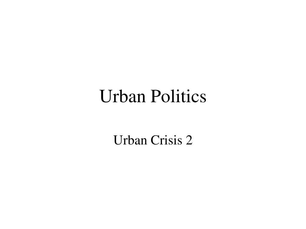 urban politics l.