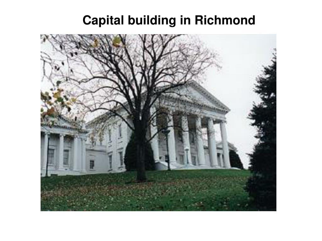 Capital building in Richmond
