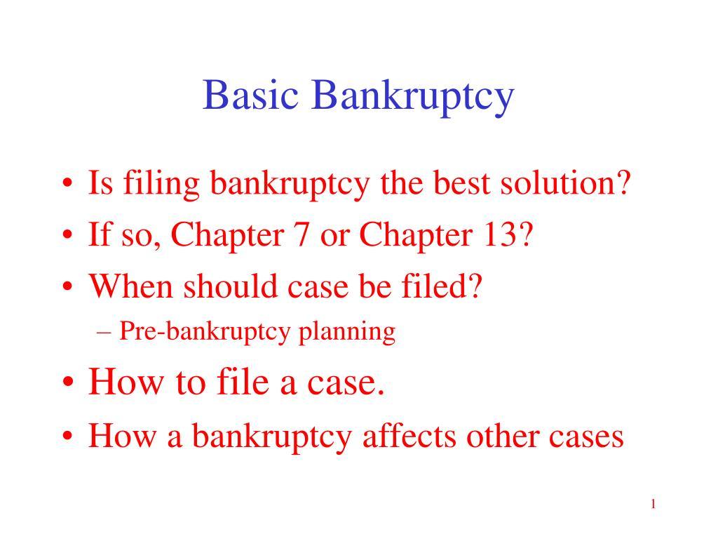 basic bankruptcy l.