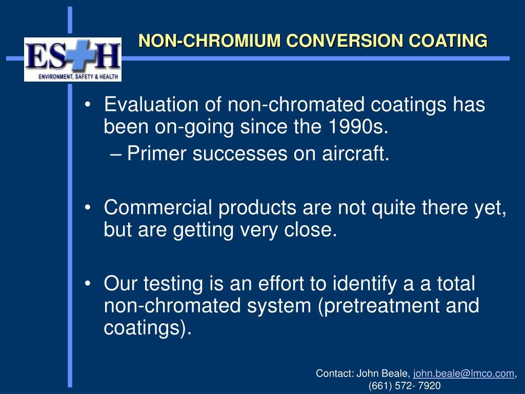 NON-CHROMIUM CONVERSION COATING