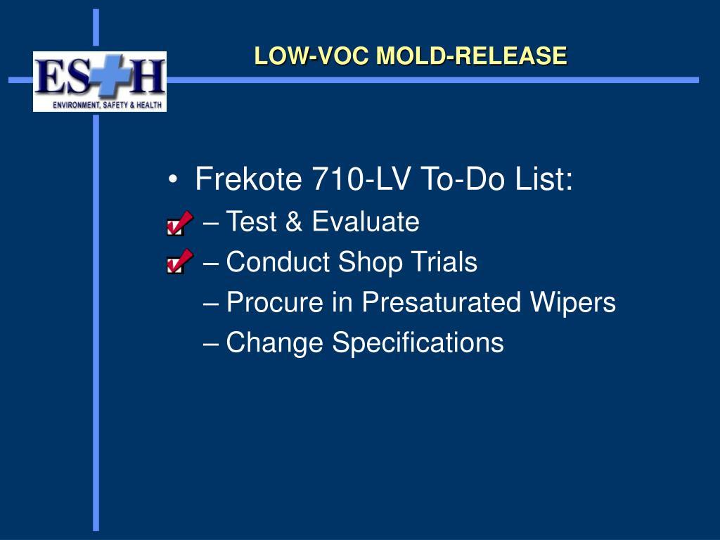 LOW-VOC MOLD-RELEASE