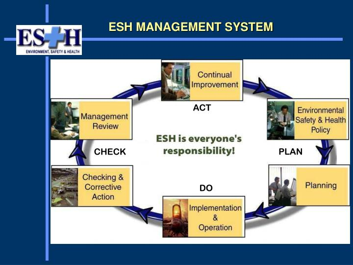 ESH MANAGEMENT SYSTEM