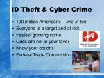 id theft cyber crime