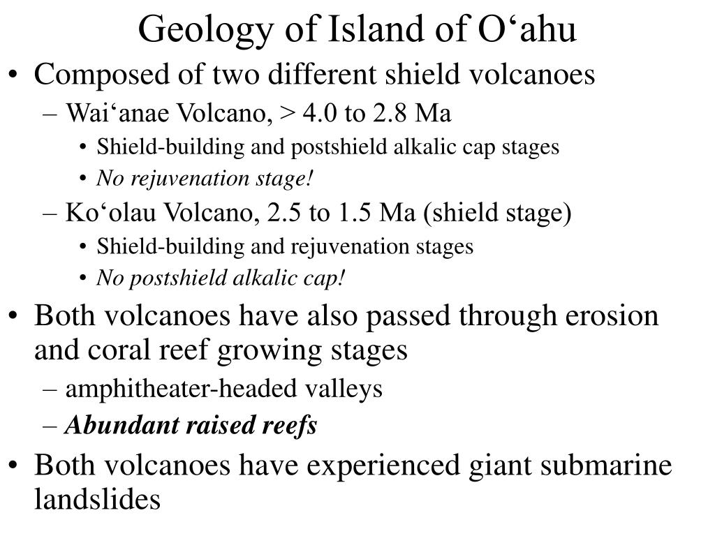 geology of island of o ahu l.