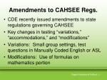 amendments to cahsee regs
