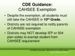 cde guidance cahsee exemption20
