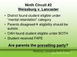 ninth circuit 2 weissburg v lancaster