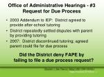 office of administrative hearings 3 request for due process