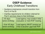osep guidance early childhood transitions