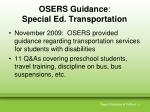 osers guidance special ed transportation