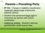 parents prevailing party