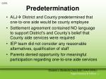 predetermination