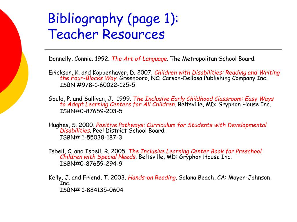 Bibliography (page 1):