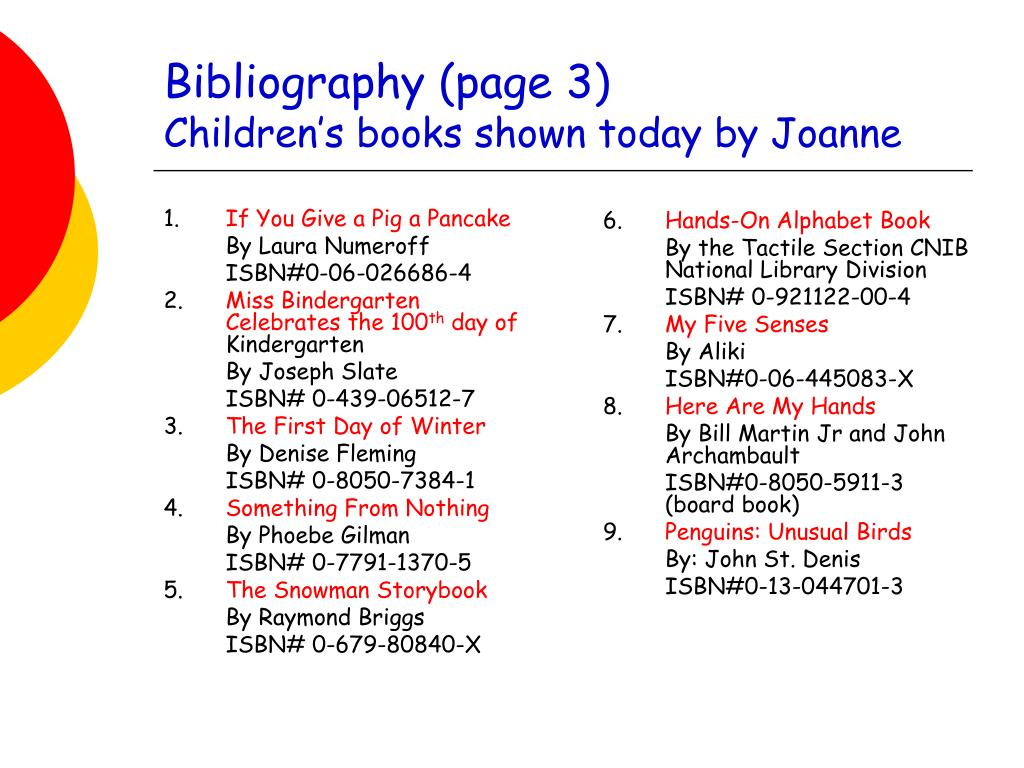 Bibliography (page 3)