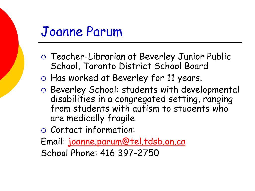 Joanne Parum