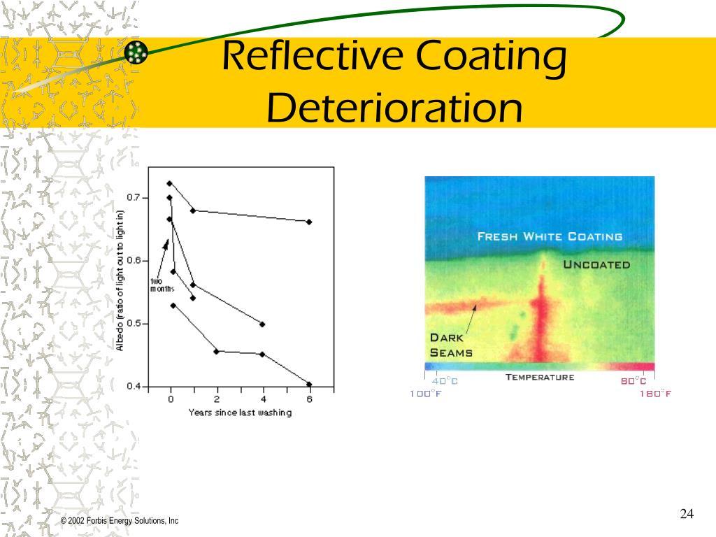 Reflective Coating Deterioration