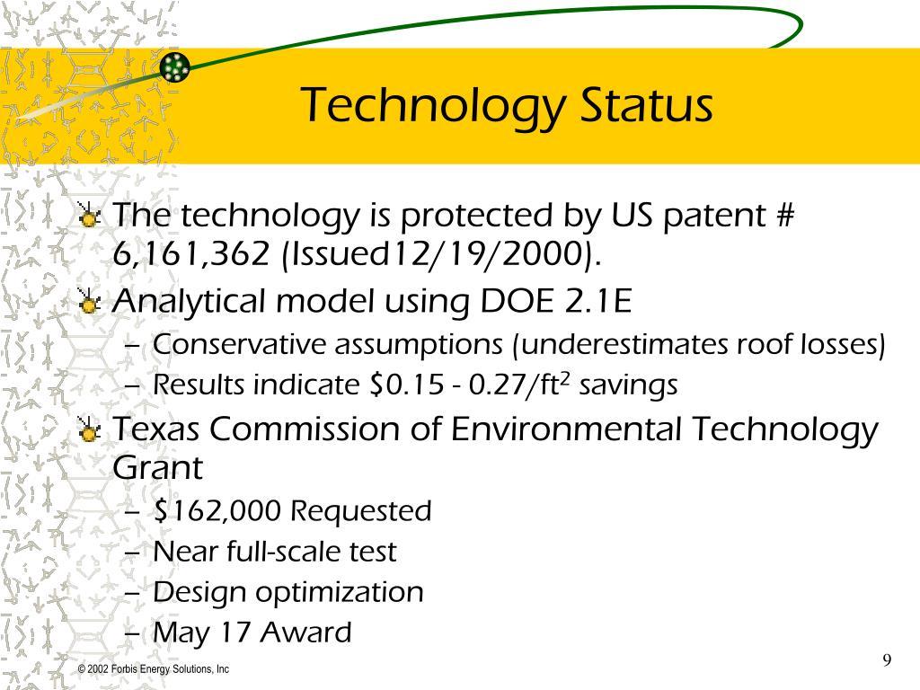 Technology Status
