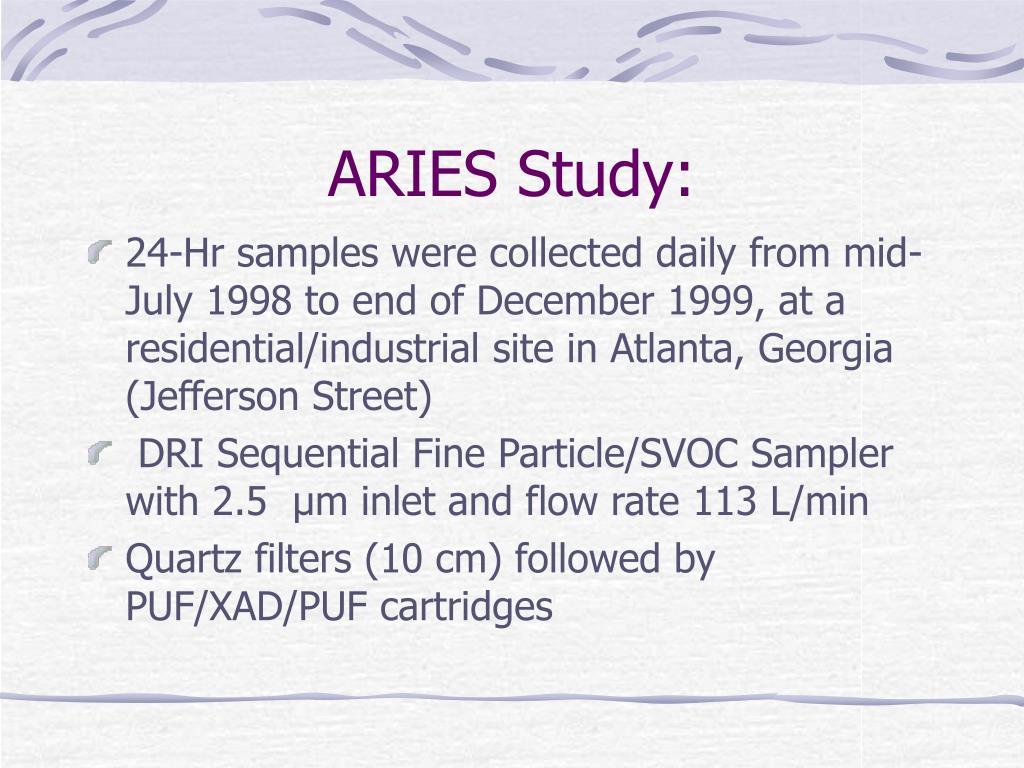 ARIES Study: