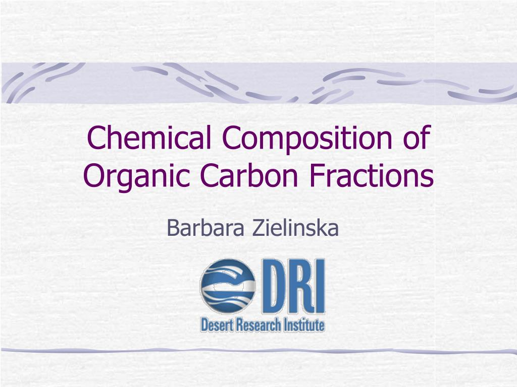chemical composition of organic carbon fractions l.