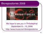 biorepositories 2008