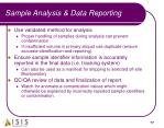 sample analysis data reporting