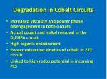 degradation in cobalt circuits18