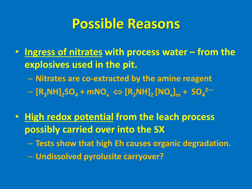 Possible Reasons
