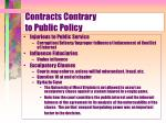 contracts contrary to public policy17