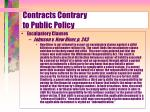 contracts contrary to public policy18