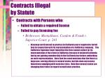 contracts illegal by statute14