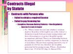 contracts illegal by statute15