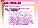 types of illegality4