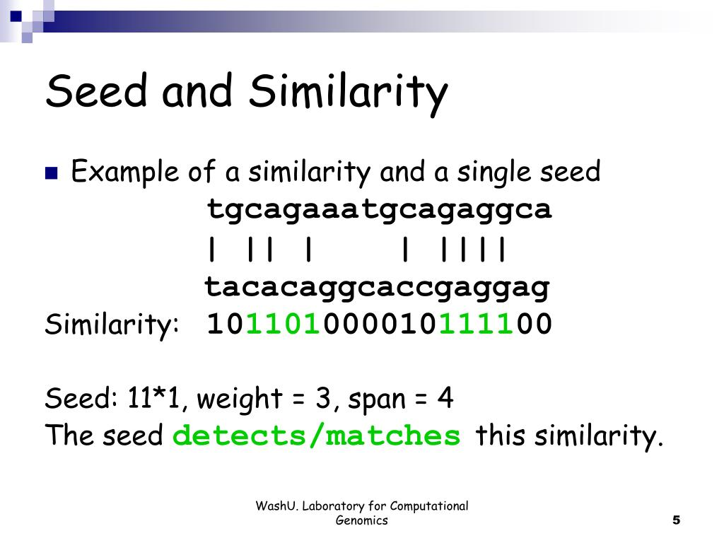 Seed and Similarity