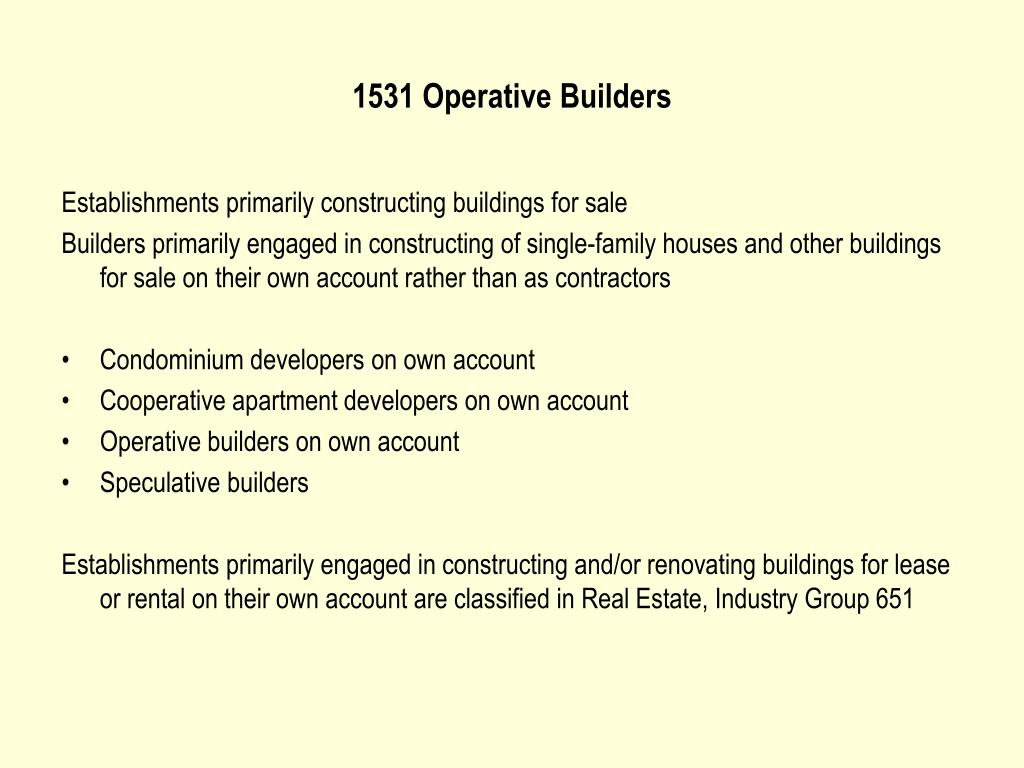 1531 Operative Builders