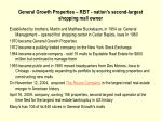 general growth properties reit nation s second largest shopping mall owner