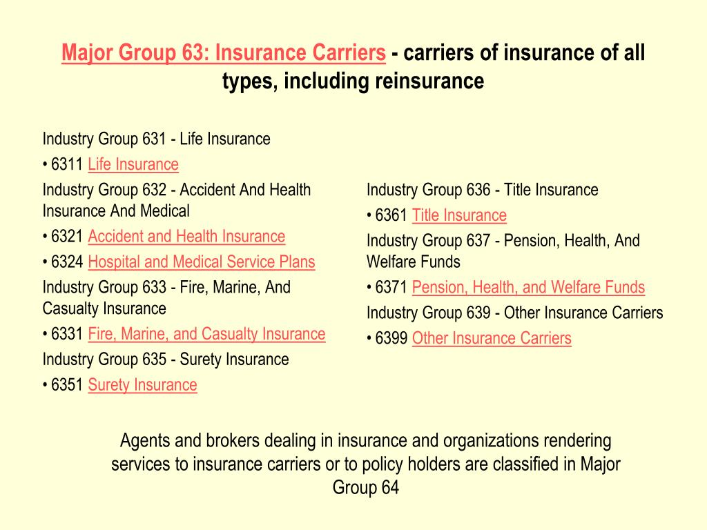 Industry Group 631 - Life Insurance