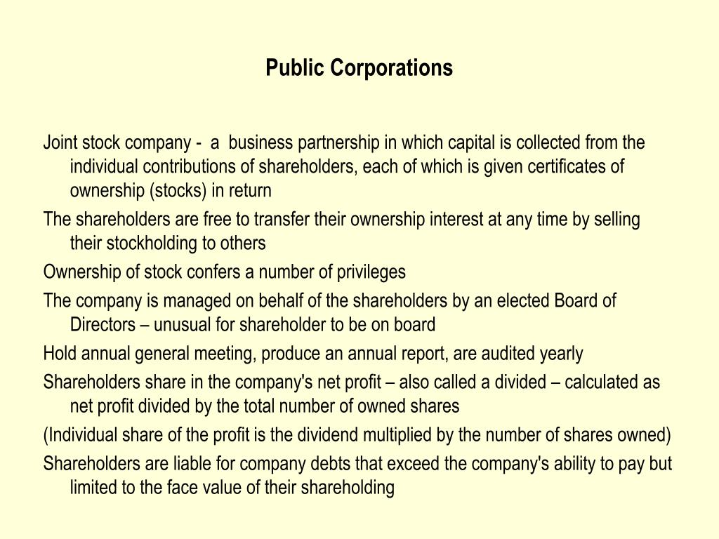 Public Corporations