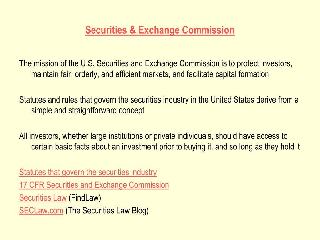 Securities & Exchange Commission