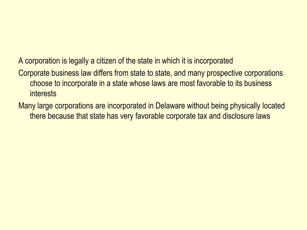 A corporation is legally a citizen of the state in which it is incorporated