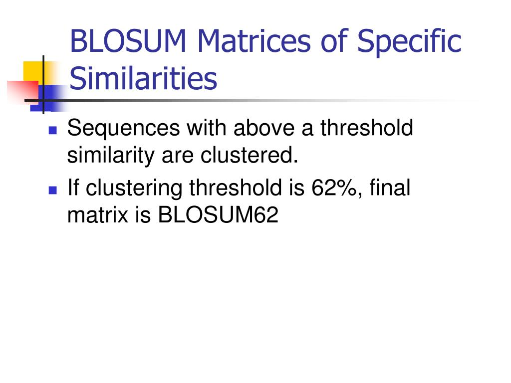BLOSUM Matrices of Specific Similarities