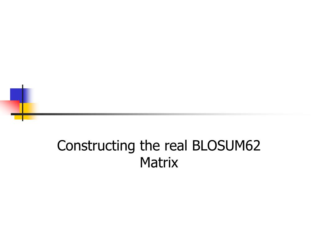 Constructing the real BLOSUM62 Matrix