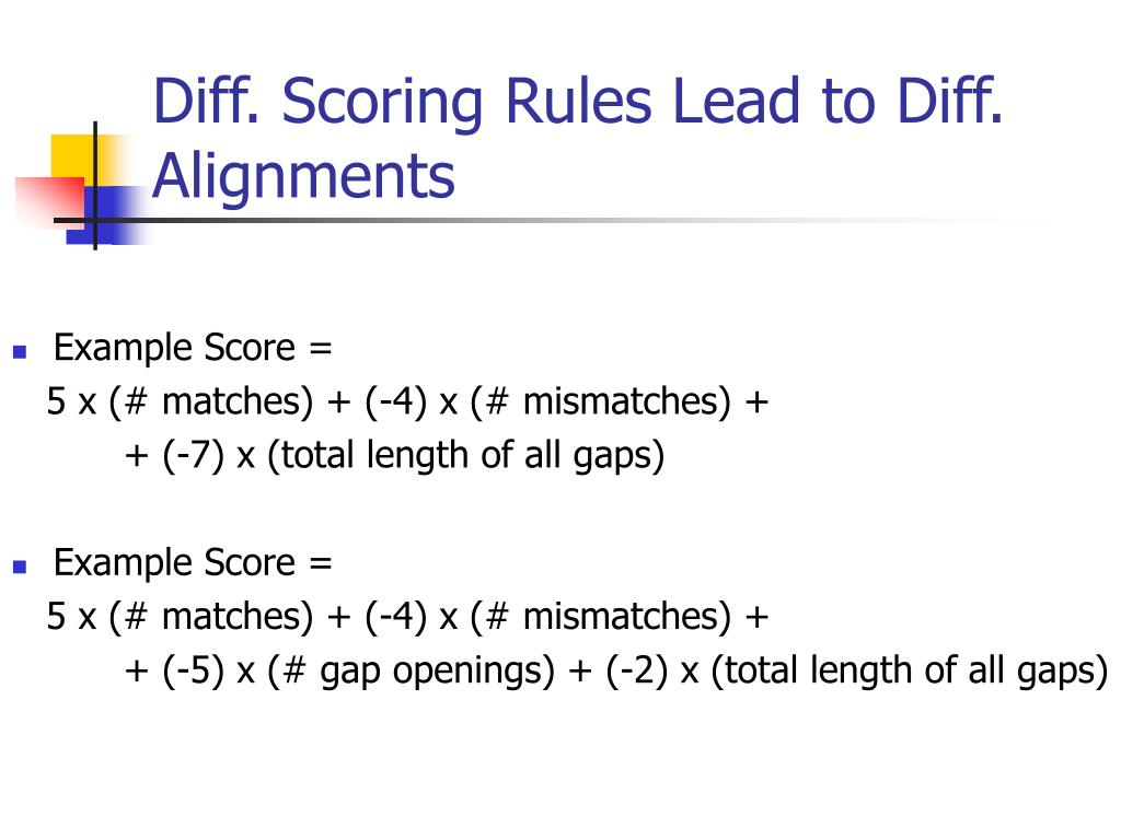 Diff. Scoring Rules Lead to Diff. Alignments