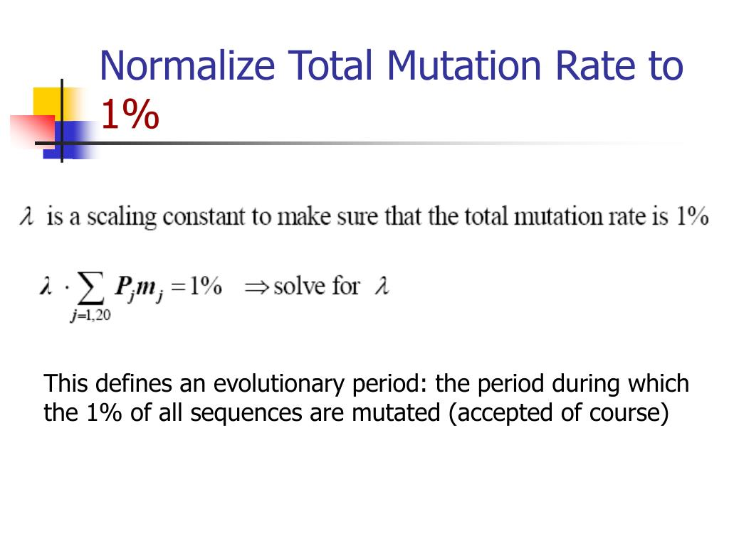 Normalize Total Mutation Rate to