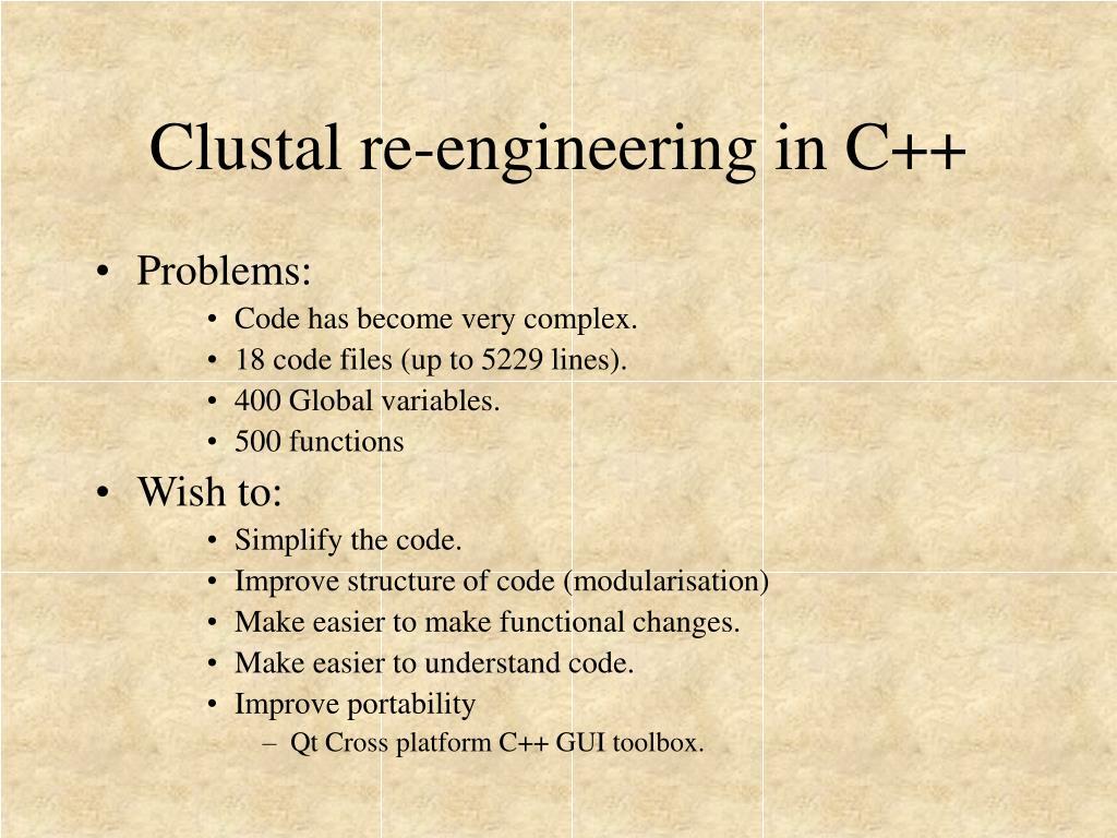 Clustal re-engineering in C++