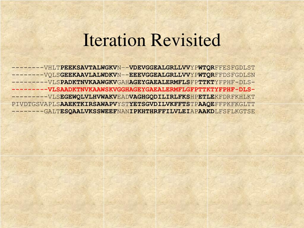 Iteration Revisited