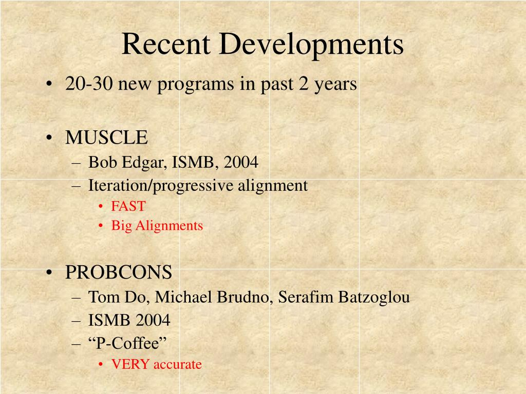 Recent Developments